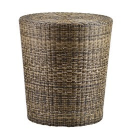 Woven Fiber Patio Stool and Side Table