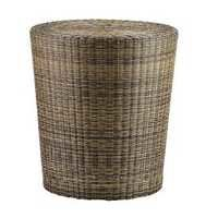 Woven Fiber Patio Stool/Side Table