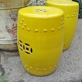 Painted Ceramic Garden Stool
