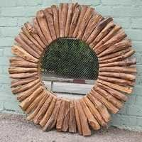 Reclaimed Teak Wood Mirror Frame