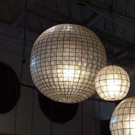 Capiz Shell Hanging Lantern