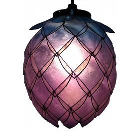 Capiz Shell Hanging Lotus Lantern