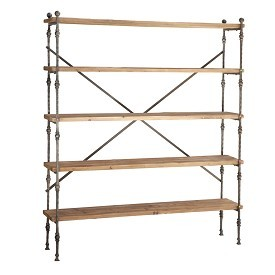Reclaimed Wood And Iron Shelving
