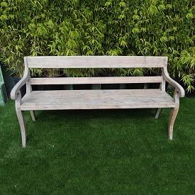 Sun Bleached Teak Bench