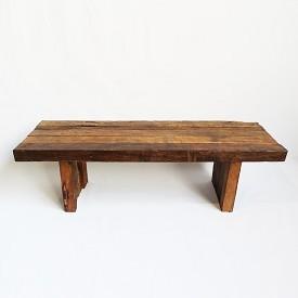 Teak Railroad Tie Bench / Table