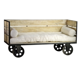 Industrial Reclaimed Wood Daybed