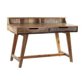Reclaimed Wood Desk With Drawers