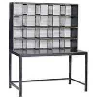 Industrial Desk with Mesh Iron Display / Storage