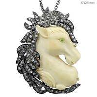 Ivory Diamond Pendant
