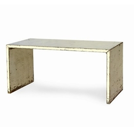 White Distressed Writing Table Desk