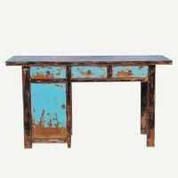 Painted Writing Table with Drawers