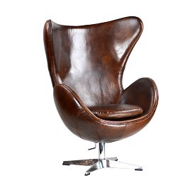 Aged Leather Wingback chair