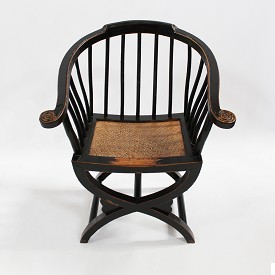 Carved Wood Arm Chair