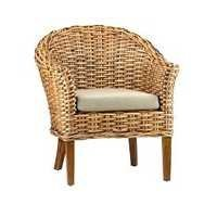 Woven Wicker Arm Chair