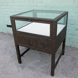 Iron Work Jewelry Display Cabinet with Glass