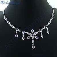 Exclusive Amethyst Silver Necklace