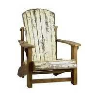 Reclaimed Wood Painted Arm Chair