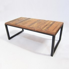 Reclaimed Wood & Iron Coffee table