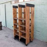 Reclaimed Wood and Iron Work Display Shelf