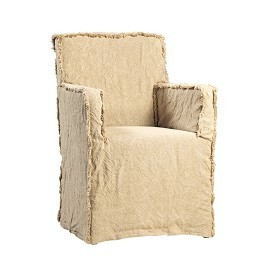 Cotton Dining Chair with Slip Cover