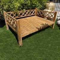 Diamond Rail Teak Daybed