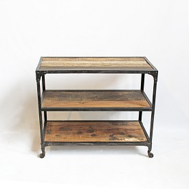 Industrial Wood and Iron Console