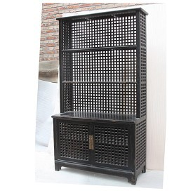 Lattice Work Display Cabinet