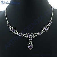 Best Selling  Silver Amethyst Necklace