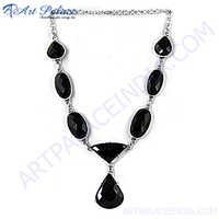 Best Black Onyx Silver Necklace