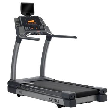 Black Gym Cybex Treadmill