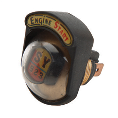 Push Button Brass Body (WBracket, Transparent