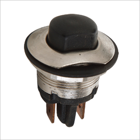 Push Button Brass Body (Black Cap)