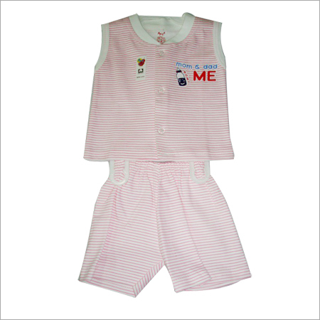 100% COTTON BABY BOY FRONT OPEN SLEEVELESS SET
