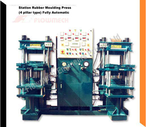 2 Station Rubber Molding Press (4 Pillar Type)