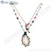Elegant Fancy Multi Color Gemstone Necklace