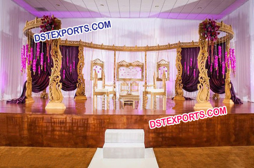 Muslim Wedding White Furniture Stage Set