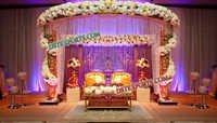 WEDDING MANDAP CRYSTAL DECORATIONS