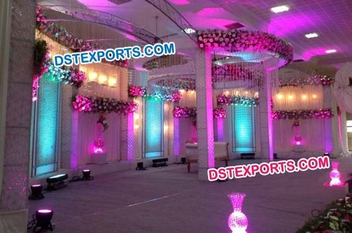 Wedding Lighted Crystal Backdrop