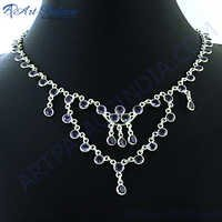 Royal Trade Amesthyst Silver Necklace