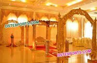 Hand Carved Wedding Wooden Mandap