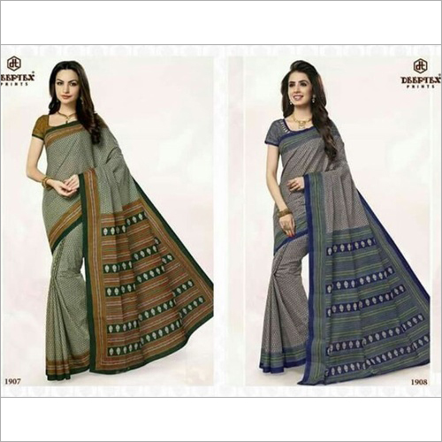 Deeptex Printed Cotton Saree