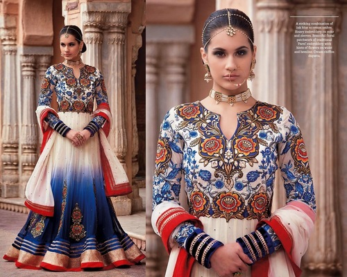 Beautiful Blue Colour Outfit Dress