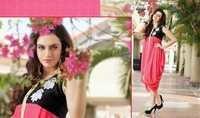 Pink & Black Designer Kurtis