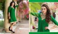 Green Designer Kurtis Dress