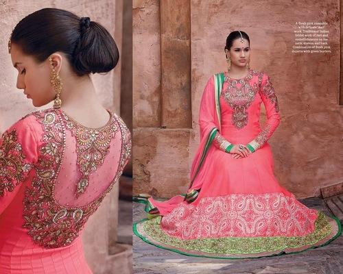 Superb Violet Red Designer Outfit Dresses