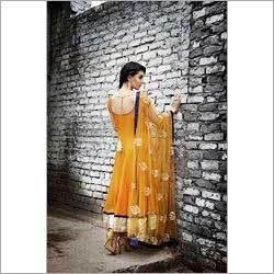 Anarkali Yellow Salwar Kameez