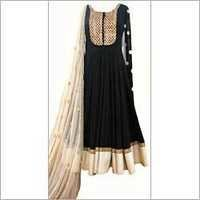 Black fancy designer  anarkali suit
