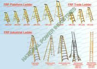 FRP PLATEFORM LADDER