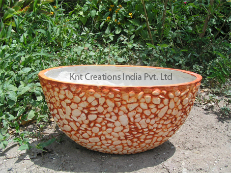Sandstone Bowl Planter