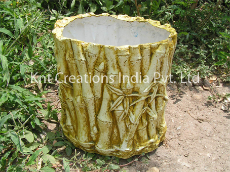 Yellow Bamboo Planter